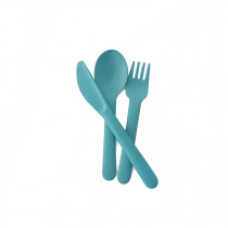 Bambino Trio Cutlery Set (fork, spoon, knife) - Lagoon
