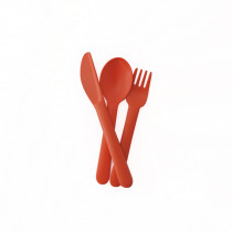Bambino Trio Cutlery Set (fork, spoon, knife) - Persimmon