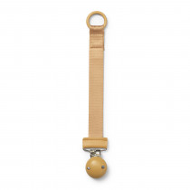 Pacifier Clip- Wood Elodie Gold