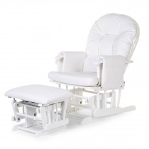 Gliding Chair With Footrest White
