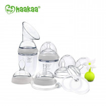 Haakaa Generation 3 - Premium Silicone Pump And Bottle Pack - Grey