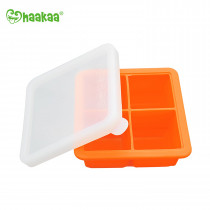 Silicone Baby Food Freezer Tray - 4X Cup - Orange