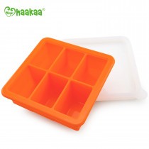 Silicone Baby Food Freezer Tray - 6X Cup - Orange