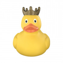 Bath Toy-XXL  Duck with Crown, 25 cm - Yellow