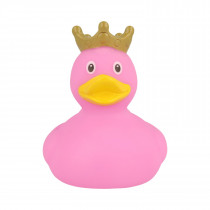Bath Toy-Mini Rubber Duck with Crown -Pink