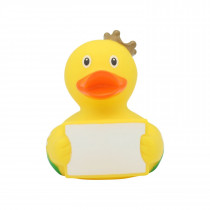 Bath Toy-Duck with greeting sign -Yellow