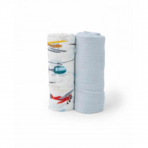 Deluxe Muslin Swaddle 2 Pack-Air Show