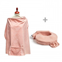 Deluxe Pillow and Nursing Cover - Soft Rose
