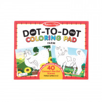 ABC Dot-to-Dot Coloring Pad - Farm