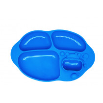 Yummy Dips Suction Divided Plate- Lucas