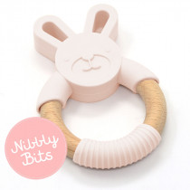 Nibbly Bits - Bunny Teether Blush
