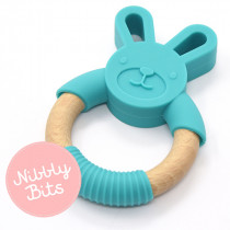 Nibbly Bits - Bunny Teether Teal