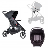 Dot Buggy Travel System - Charcoal