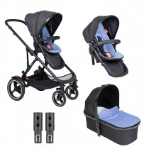 Voyager Buggy & Carrycot - Twin Package - Sky