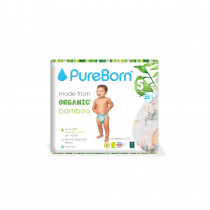 PureBorn Size 5 Single pack nappy 11 to 18 Kg 22 pcs - Tropic
