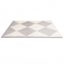 Playspot Geo Floor Tiles - Grey & Cream