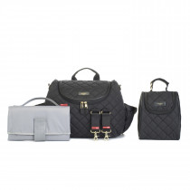 Poppy Quilted -Black