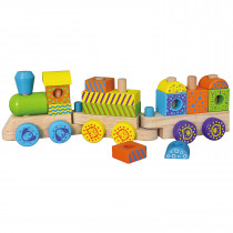 Colorful Stacking Train