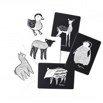 Baby Animal Collection Art Cards for Baby