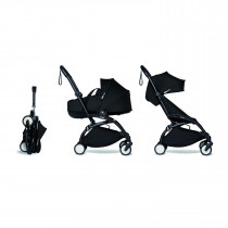 Complete BABYZEN stroller YOYO2 FRAME Black & bassinet BLACK and 6+ color pack color pack
