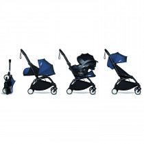 all-in-one BABYZEN stroller YOYO2 0+, car seat and 6+ Black Frame & Air France Blue