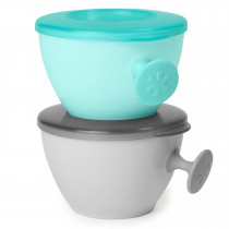 Easy Grab Bowls -Grey/Soft Teal
