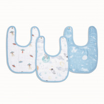 Essentials 3 Pack Snap Bibs - Space Explorers