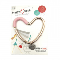 Heart Hook - Rose Gold Pink Leather
