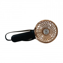 3 Speed Rechargeable Turbo Fan - Black/Rose Gold