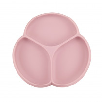 Silicone Suction Plate - Dusty Rose
