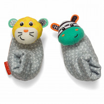 FOOT RATTLES - ZEBRA/TIGER