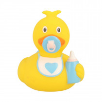 Bath Toy-Mini Baby Boy Duck-Yellow/Blue