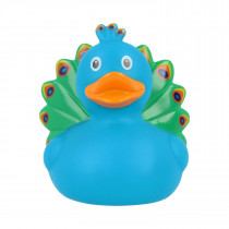 Bath Toy-Peacock Rubber Duck-Blue