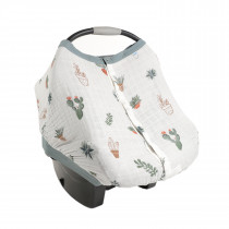 Cotton Muslin Car Seat Canopy 2 - Prickle Pots