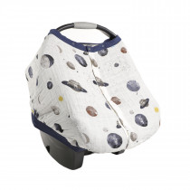 Cotton Muslin Car Seat Canopy 2 - Planetary