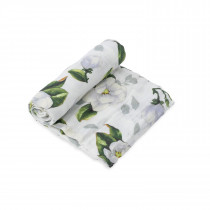 Cotton Muslin Swaddle Single  - Magnolia Blossoms