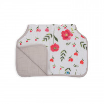 Cotton Muslin Burp Cloth - Summer Poppy