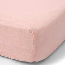 Cotton Muslin Crib Sheet-Rose Petal