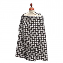 Nursing Cover - Black & White Marina