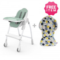 Cocoon Highchair with Seat Liner - Pistachio Macaron