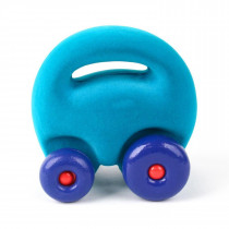 Soft Baby Educational Toy-Original Mascot Car- Turqoise