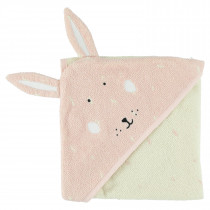 Hooded towel (75cm x 75cm) - Mrs. Rabbit
