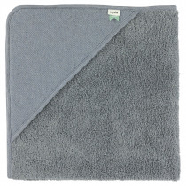 Hooded Towel - Grain Blue