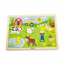 Wooden Puzzle - Farm (24pcs)