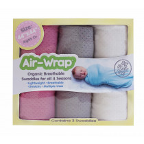 Old Fashioned Air Wrap - Hot Pink, Gray, Cream