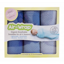 Old Fashioned Air Wrap - 3 blues  (Light Blue, Medium Blue, Cool Blue)