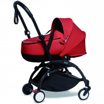 BABYZEN stroller YOYO2 FRAME Black & bassinet - RED
