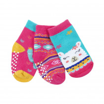 Baby Terry 3 pc Sock set - Laney the Llama