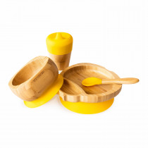 Ladybird Plate, Feeder Cup, Bowl & Spoon combo in Yellow