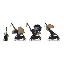 all-in-one BABYZEN stroller YOYO2 0+, car seat and 6+ White Frame & Toffee